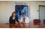 Ann Bell MBE (on right) with Gunn Maritt Helgesen, President of the North Sea Commission in the European Parliament.