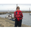Ann Bell MBE at Cairnbulg harbour May 2012